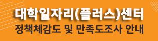 대학일자리(플러스)센터 청년정책체감도 및 만족도조사(12.31